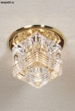 Светильник LUSSOLE  LSA-7990-01 DOWNLIGHTS gold clear crystal 1*20W G4 12V