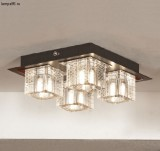 Люстра LUSSOLE LSF-1307-04 NOTTE DI LUNA chrome + wengue painted clear crystal 4*40W G9