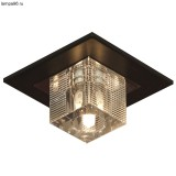Светильник встраиваемый LUSSOLE LSF-1300-01 NOTTE DI LUNA chrome + wengue painted clear crystal 1*40W G9 Светильник