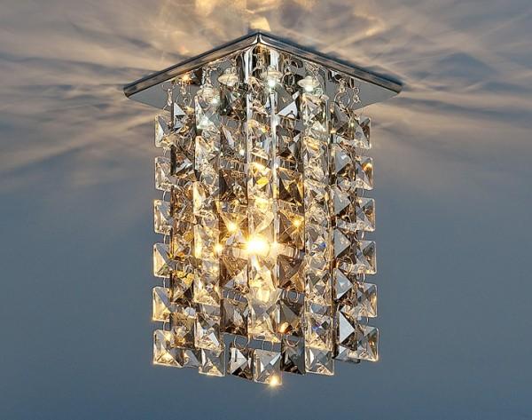Точечный светильник Elektrostandard 207 LED хром/дымчатый купить в Екатеринбурге по цене 699 руб. в интернет-магазине   Лампа96